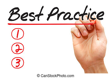 Hand writing Best Practice List, business concept - Hand...