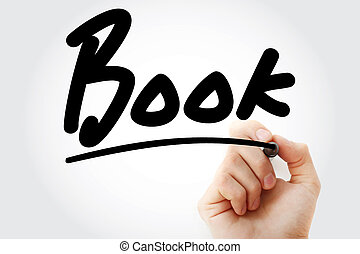 Hand writing Book with marker, concept background