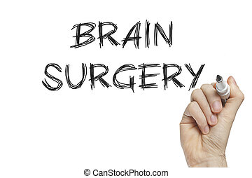 Hand writing brain surgery