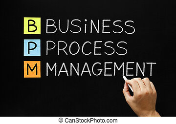 Business Process Management - Hand writing Business Process...