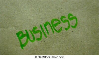 Hand Writing BUSINESS