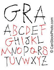 hand writing childish font