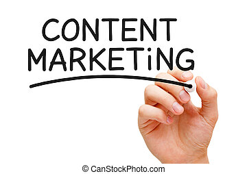 Content Marketing - Hand writing Content Marketing with...