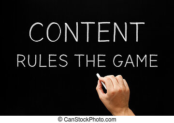 Content Rules The Game - Hand writing Content Rules The Game...