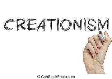 Hand writing creationism