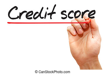 Hand writing Credit Score, business concept - Hand writing...