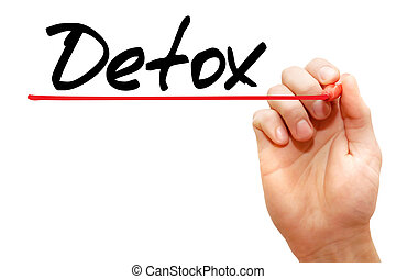 Detox - Hand writing Detox with marker, health concept