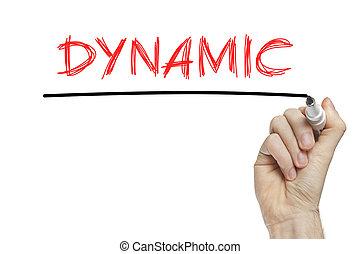 Hand writing dynamic
