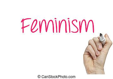 Hand writing feminism