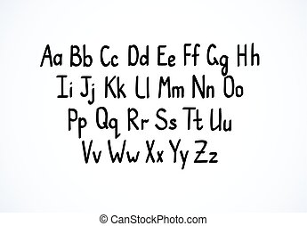 Hand-writing font letters - Hand-writing scribble vector ...
