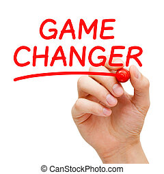 Game Changer - Hand writing Game Changer with red marker on...