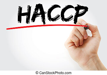 Hand writing HACCP with marker
