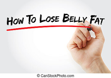 Hand writing How To Lose Belly Fat