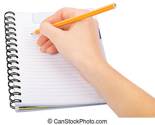 Hand writing in copybook