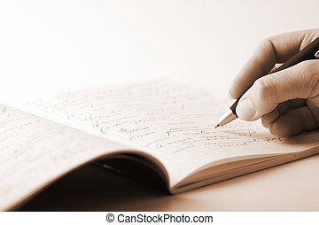 Hand Writing Stock Photos And Images 295 765 Hand Writing Pictures And Royalty Free Photography Available To Search From Thousands Of Stock Photographers