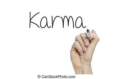 Hand writing karma