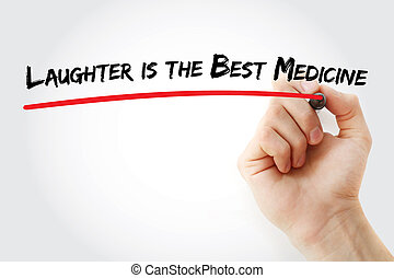 Hand writing Laughter is the Best Medicine