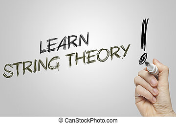 Hand writing learn string theory