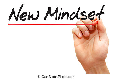 Hand writing New Mindset, business concept - Hand writing ...
