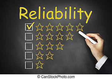 hand writing on chalkboard reliability - hand writing...
