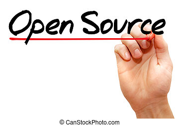 Open Source - Hand writing Open Source with marker, business...