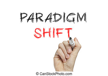Hand writing paradigm shift