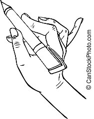 hand writing pen