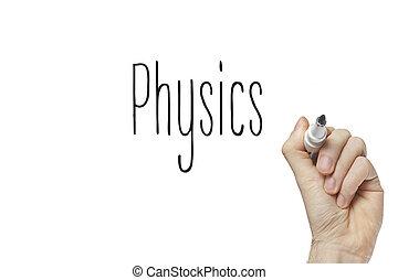 Hand writing physics
