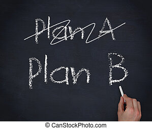 Hand writing plan B
