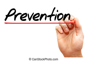 Hand writing Prevention, concept