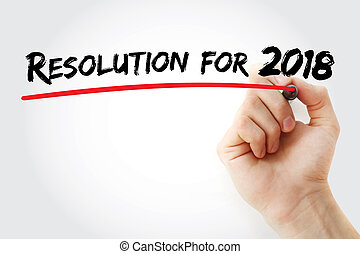 Hand writing Resolution for 2018