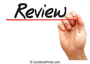 Hand writing Review, business concept - Hand writing Review...