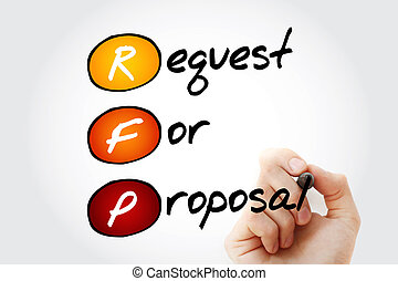 Request For Proposal with marker - Hand writing RFP -...