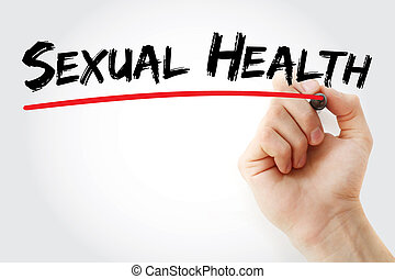 Hand writing Sexual Health with marker, concept background