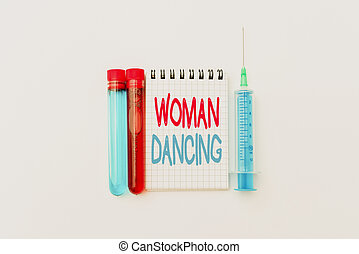 Text caption presenting Woanalysis Dancing, Conceptual photo confident that dances gracefully and professionally Research Notes For Virus Prevention, Planning Medical Procedures