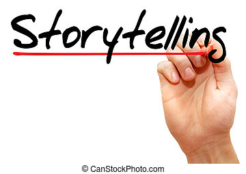 Storytelling - Hand writing Storytelling with marker, ...