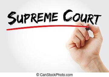 Hand writing Supreme Court