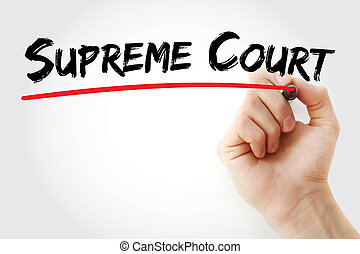 Hand writing Supreme Court