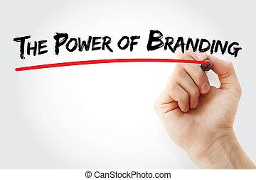Hand writing The Power of Branding