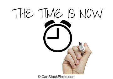Hand writing the time is now