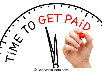 Time to Get Paid - Hand writing Time to Get Paid with marker...