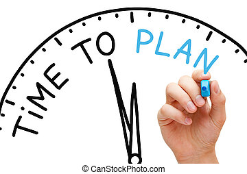 Time to Plan - Hand writing Time to Plan concept with blue ...