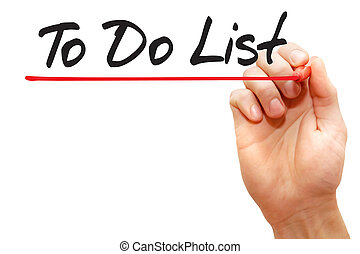 Hand writing To Do List, business concept
