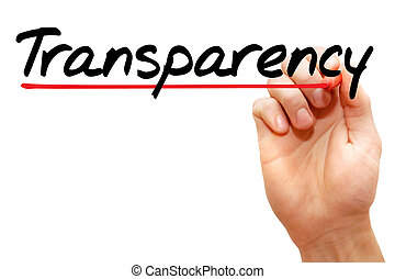 Transparency - Hand writing Transparency with marker, ...