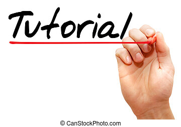 Hand writing Tutorial, business concept - Hand writing...