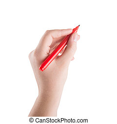 hand writing with marker