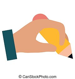 hand writing with pencil vector illustration design