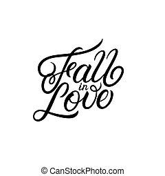 season inscription Fall in Love