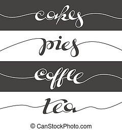 Hand written cafe poster.