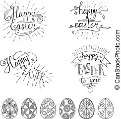 Card for congratulations hand written phrase greeting card text hand written easter phrases eeting card text templates with easter eggs isolated on white background m4hsunfo
